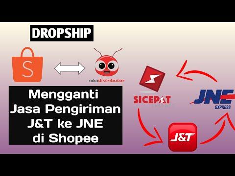 dropship-shopee-||-mengganti-jasa-pengiriman-j&t-ke-jne