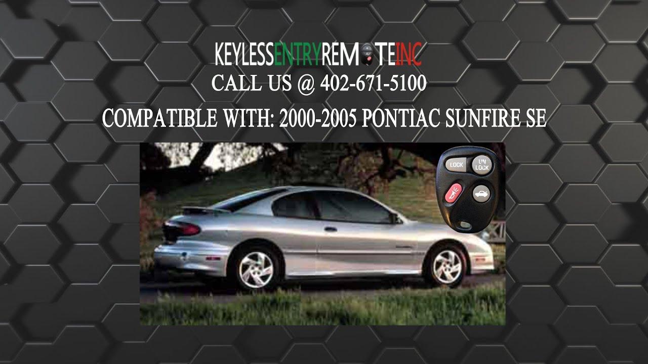 How To Replace Pontiac Sunfire Se Key Fob Battery 2000 2005