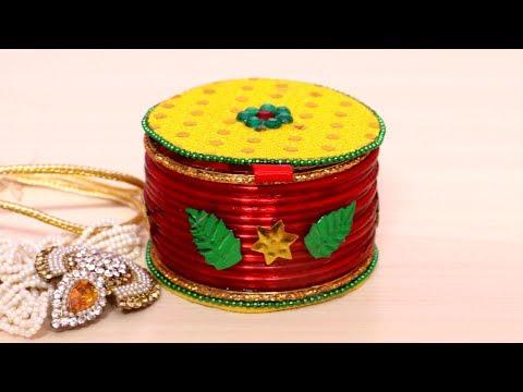 How To Make Jewelry Box | Jewellery Box Making at Home Using Bangles