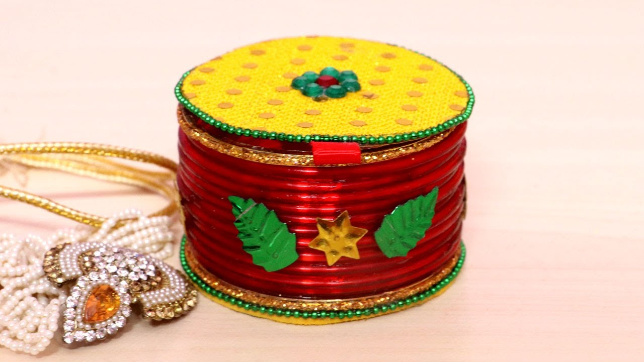How To Make Jewelry Box Jewellery Box Making at Home Using Bangles