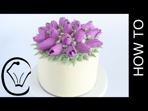 Buttercream Flower Tulip Cake How To by Cupcake Savvy