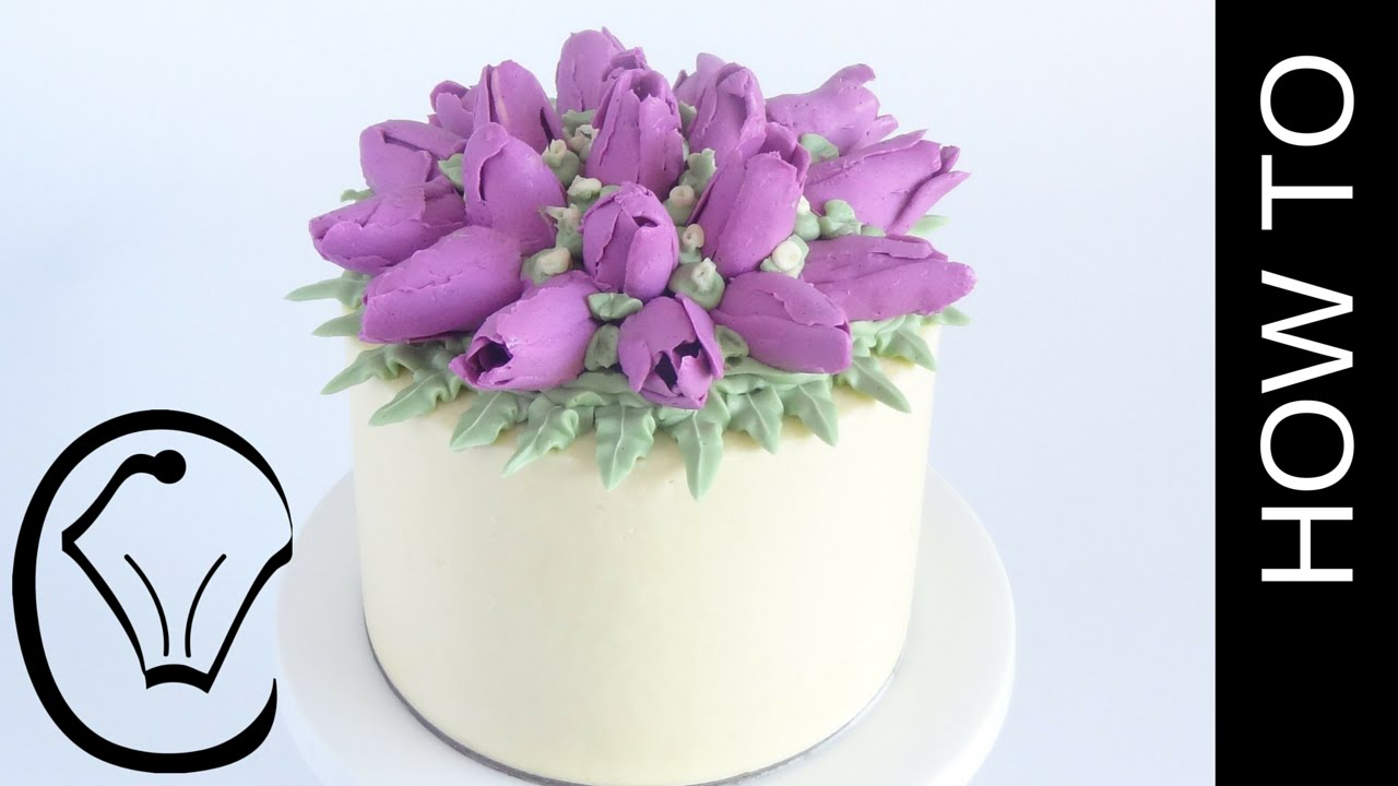 Buttercream Flower Tulip Cake How To By Cupcake Savvy S