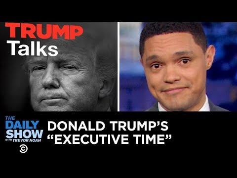 Trump's Leaked Private Schedule Causes a Stir | The Daily Show