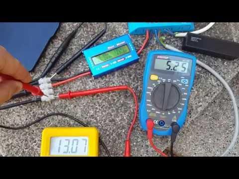 100W semi flex Solar Panel Test