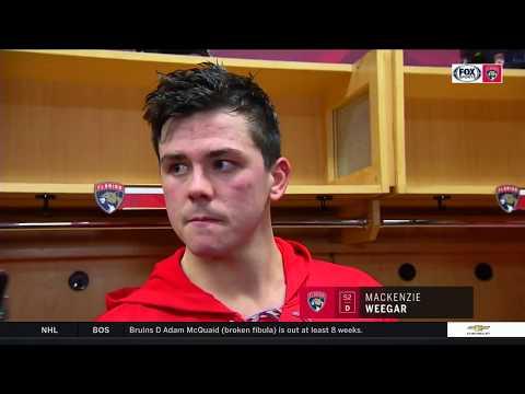 MacKenzie Weegar -- Pittsburgh Penguins vs Florida Panthers 10/20/2017