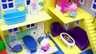 粉红猪小妹 佩奇搬家 迪士尼 小猪佩奇 玩具