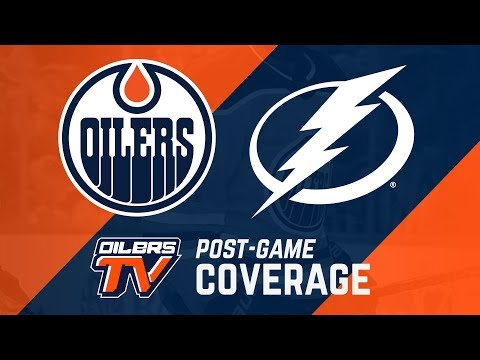 ARCHIVE   Oilers Post-Game Interviews at Lightning