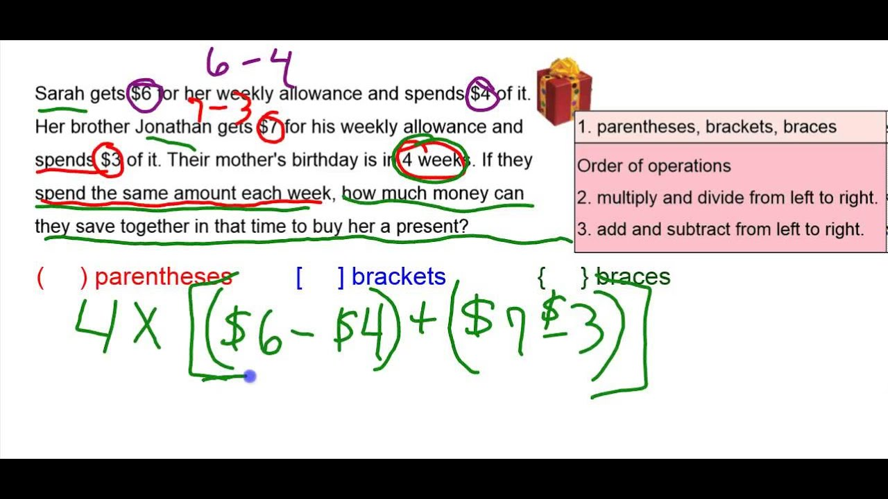 Algebra Grouping Symbols Youtube