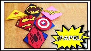 SEPARADORES de SUPERHÉROES con PAPEL (DIY) | Manualidades con papel | Súper Ideas