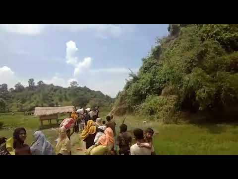 Myanmar military set fire to Rohingya homes in Sadullarsar, Maungdaw North just now.