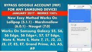 bypass google account samsung a3 a5 a7 j1 j2 j3 j5 j7 s5 on5 on7 note tab 2017