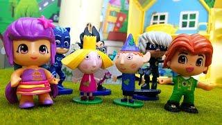 Peppa Pig Super Pigiamini Ben e Holly Pinypon Episodio completo italiano, storie per bambini giochi