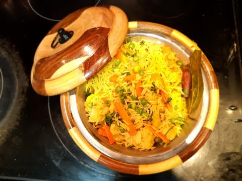 Veg Pulao / Rice ( Please use Subtitles/CC for detailed steps)