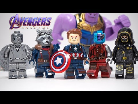 Avengers Endgame Captain America Black Widow Hawkeye Nebula Unofficial Lego Minifigures