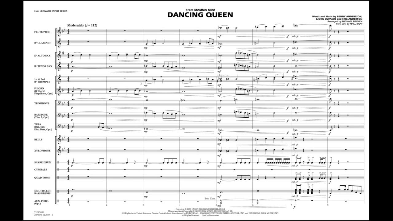 Dancing Queen (from Mamma Mia!) arr  Michael Brown