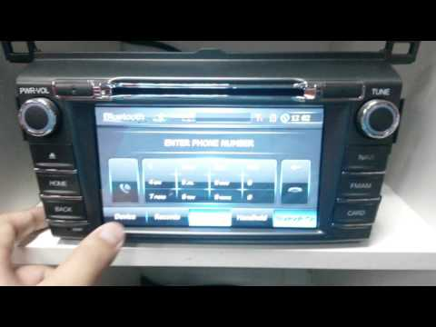 Fly Audio Dvd Navigation and Entertainment Screen For Toyota Rav4 2013-2016