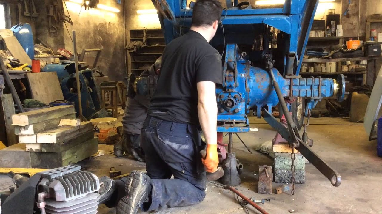 How To Install Rear Half Axle On Ford 4100 After Replacing
