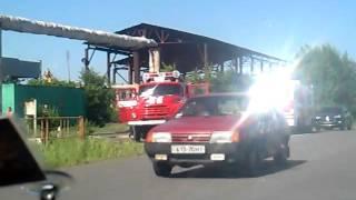 Пожар на Асфальтном заводе Южноукраинск.