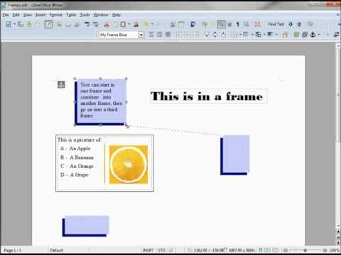 LibreOffice-Writer (75) Frames -- Continuous Text