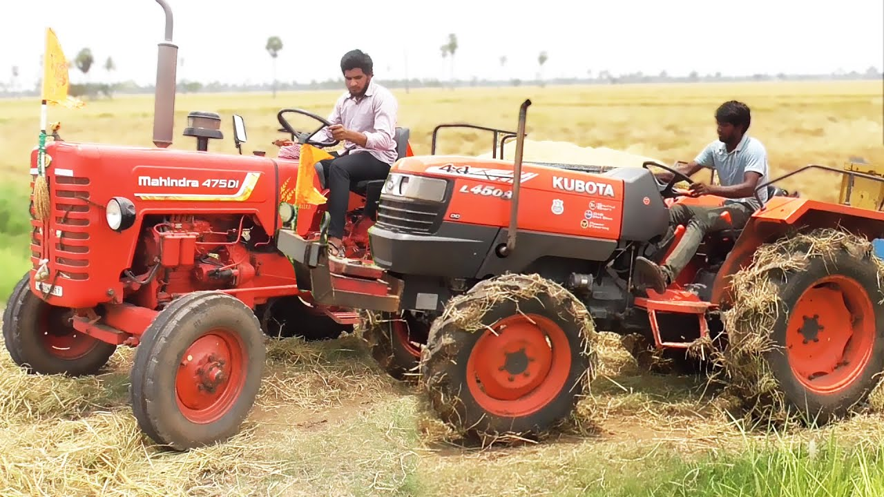 Kubota Vs Mahindra | On Field Working Tractors | Tractor Videos | 475 DI | L4508 | SWAMI Tractors