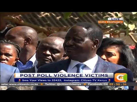 The police killed 215 people after the August poll  -Odinga