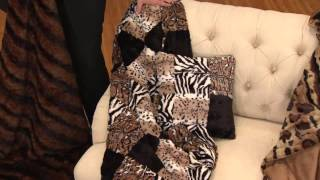 Dennis Basso Oversized Animal Print Faux Fur Throw  amp  Pillow Set with  Kerstin Lindquist ab722a56a349e