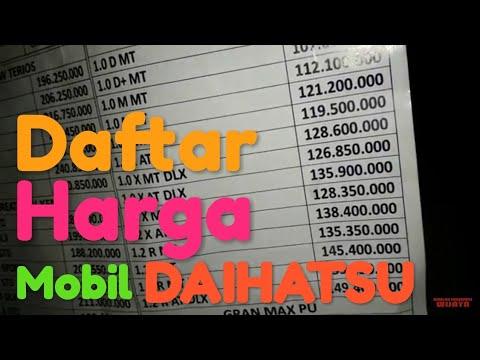 Daftar Harga OTR Mobil DAIHATSU, Astra International Wilayah Periangan Timur