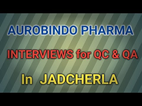 AUROBINDO Pharma Walk in Interviews for QC and QA dept in JADCHERLA || PHARMA JOBS ||