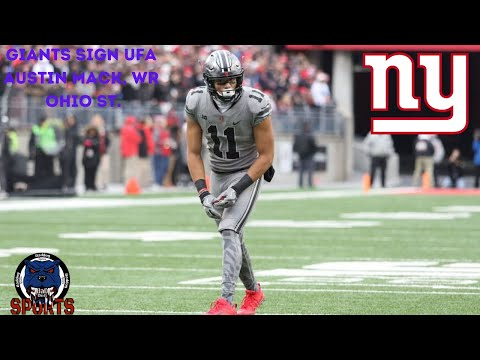 Breaking News! New York Giants Sign UFA Austin Mack, WR From