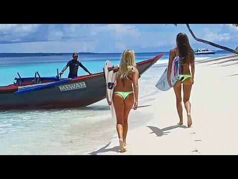 KALOEA Surfer Girls - Destination Mentawai WavePark 4K - Drone
