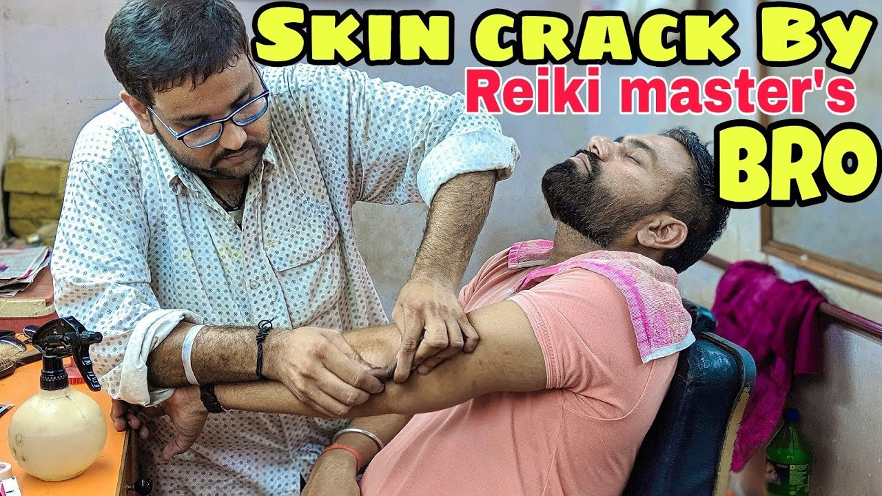 Skin cracking head massage therapy | neck cracking by Reiki master's brother ASMR