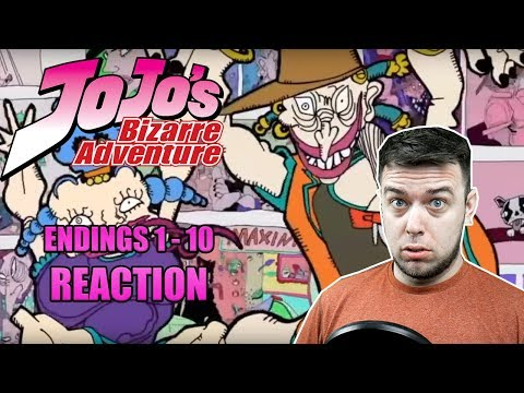 Jojo's Bizarre Adventure - All Endings 1 - 10 - REACTION