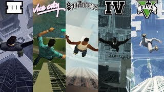 Jumping Off The Highest Buildings In GTA Games! 1997-2019