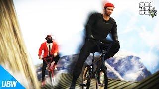 위험천만한 절벽에서 자전거 레이스를!! [절벽 자전거 파쿠르: GTA 5 Hard Bike Pakour 2] 울산큰고래
