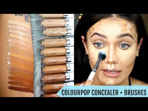 COLOURPOP No Filter Concealer + Brushes DEMO & Swatches