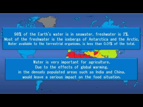 【Global warming】World Water Shortage map in 2050【Climate change】
