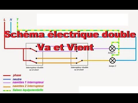 Schema electrique double va et vien youtube for Installation electrique maison pour les nuls