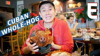 Cuban Whole-Roasted Pig with the Crispiest Skin in Miami — Dining on a Dime