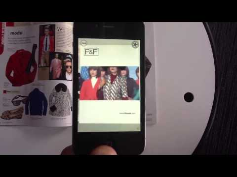 Reklama Augmented Reality w prasie - Aurasma F&F