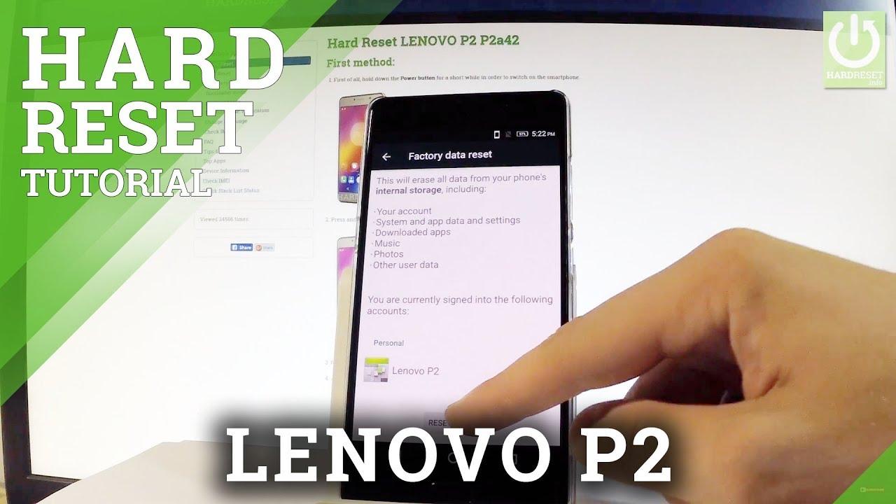 Hard Reset LENOVO P2 - HardReset info
