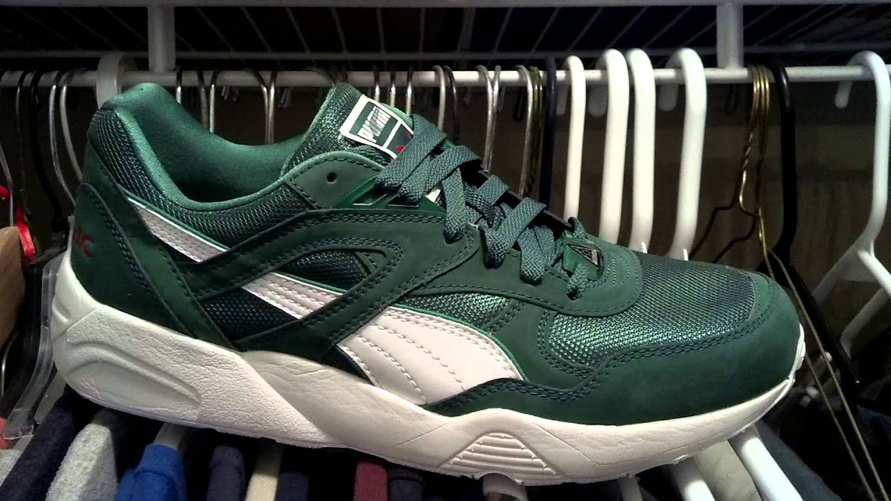 Puma Trinomic R698 Green Box Pack - YouTube