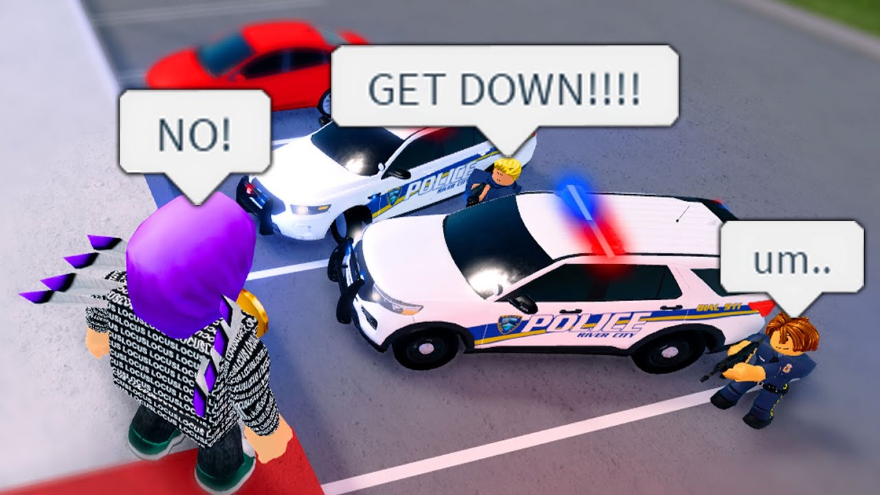 The COPS TASED ME OF The ROOF! I Tried To Run Away Multiple Times! (Roblox)