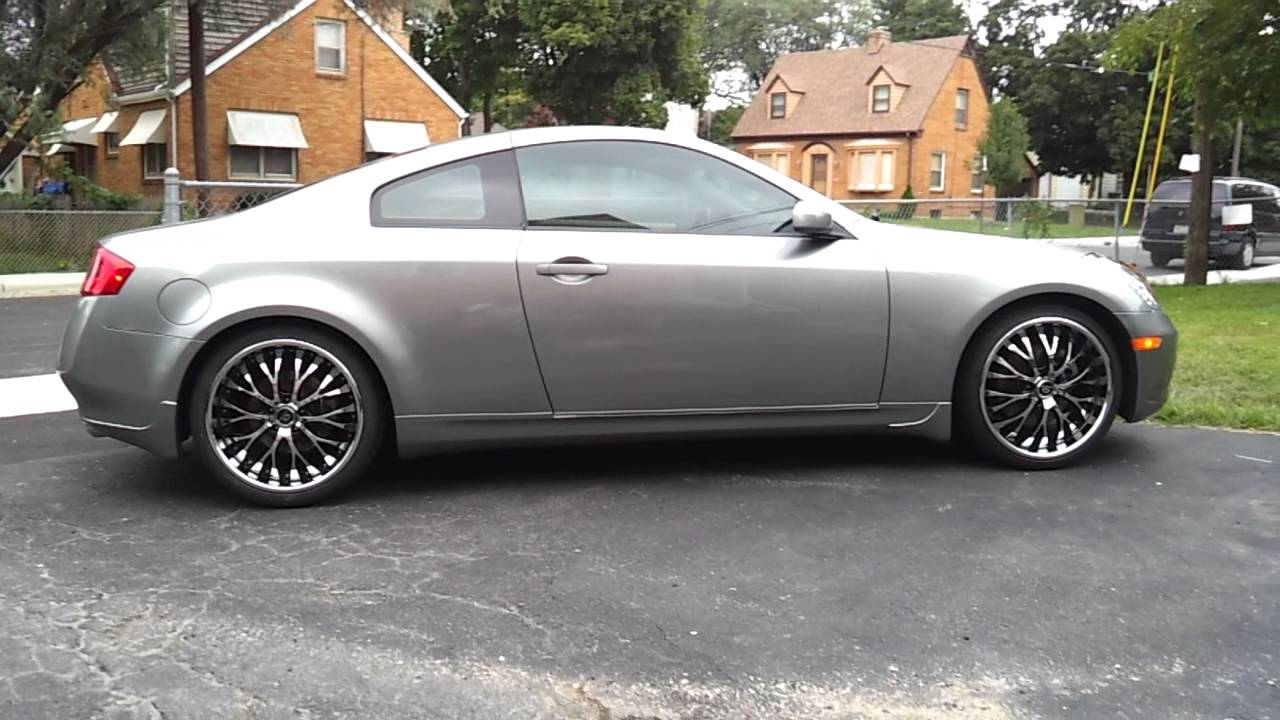 Infiniti g35 coupe with 20 inch lorenzo rims youtube vanachro Image collections