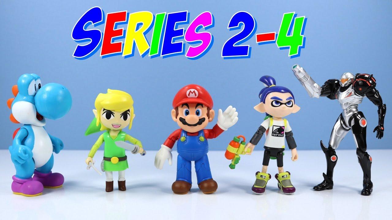 World Of Nintendo Toys Series 2 4 Mario Inkling Boy Samus More