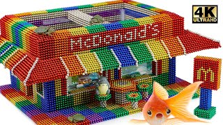 DIY - How To Make Amazing McDonalds Aquarium From Magnetic Balls (Satisfying) | Magnet World Series