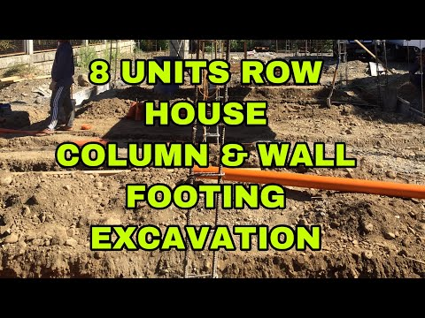 8 UNITS ROW HOUSE COLUMN AND WALL FOOTING EXCAVATION  vigan project VIDEO#18
