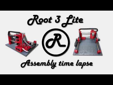 Root 3 LITE 3D Printed CNC Build Time Lapse PT:5 | ليبيا