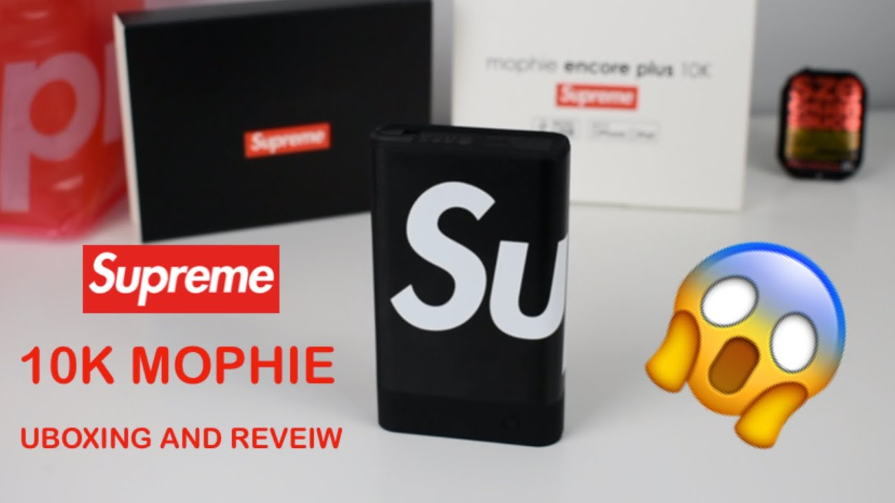 more photos eadb4 901d9 Supreme Mophie 10k Unboxing and Review!