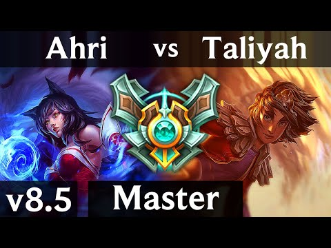 AHRI vs TALIYAH (MID) /// Korea Master /// Patch 8.5