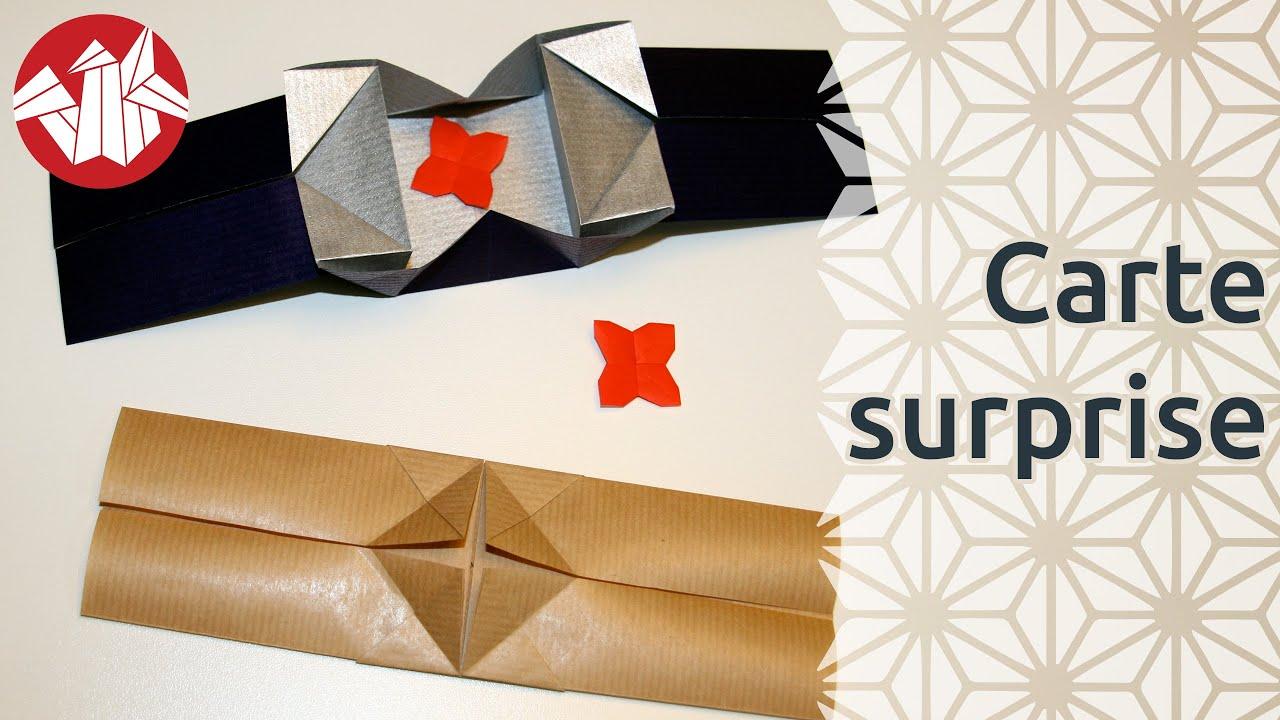 origami carte surprise surprise card senbazuru youtube